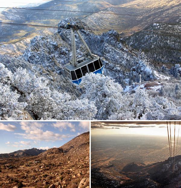 Passeio de bondinho na Sandia Peak Aerial Tramway em Albuquerque, Novo México