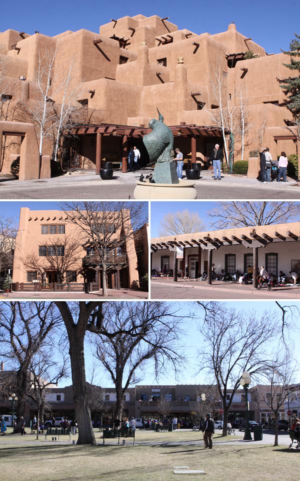 A arquitetura de Santa Fé, inspirada nos pueblos indígenas do Novo México