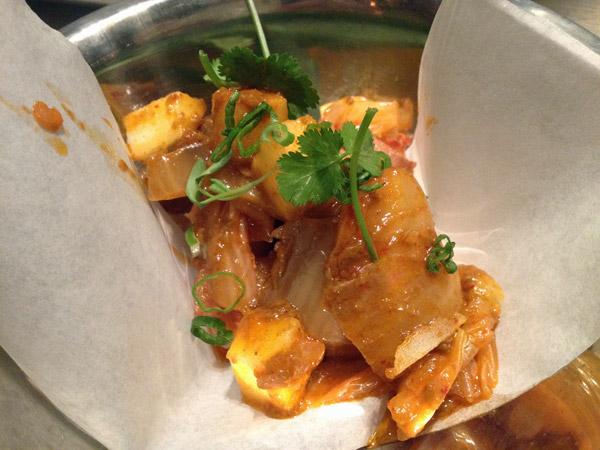 Bacon, mais um prato do menu de happy hour do Uchiko
