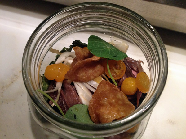 Jar Jar Duck, delicioso, no Uchiko em Austin, Texas