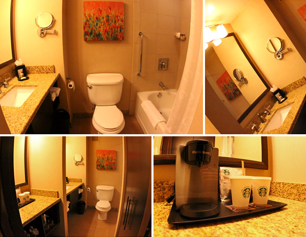 Banheiro no Sheraton Albuquerque Uptown Hotel