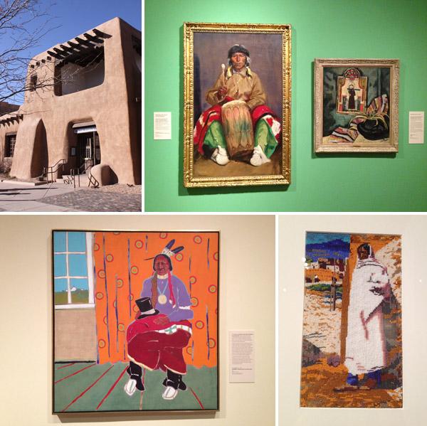 New Mexico Museum of Art, em Santa Fé: visitei rapidamente mas gostei muito do que vi