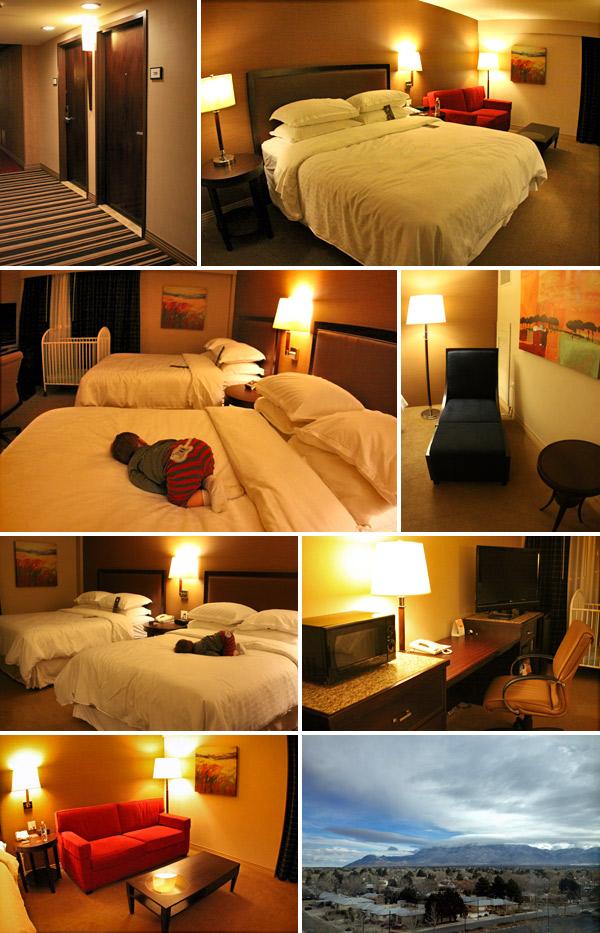 Nossos quartos no Sheraton Albuquerque Uptown Hotel, em Albuquerque, Novo México