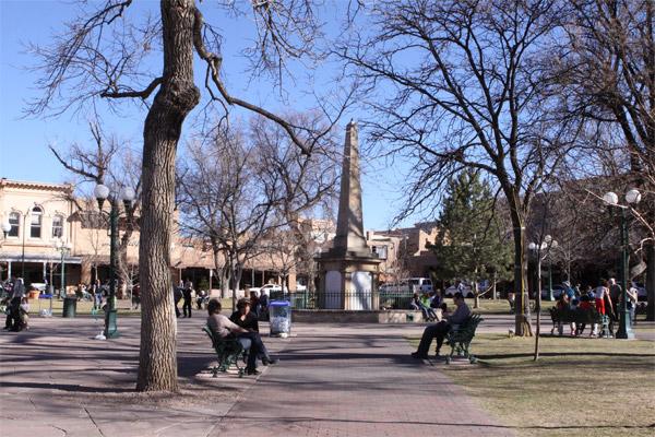 Santa Fé Plaza, a principal praça da cidade