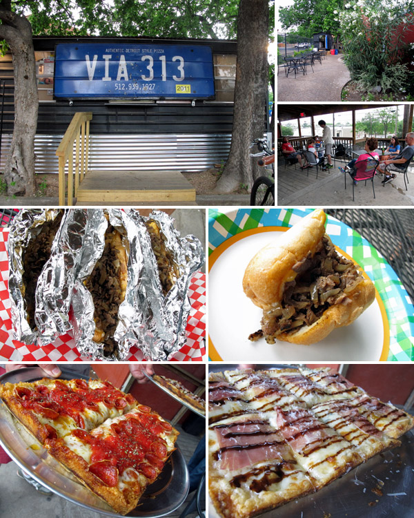 A última parada do dia foi dupla: pizza do Via 313 e Philly Cheese Steak do Way South Philly