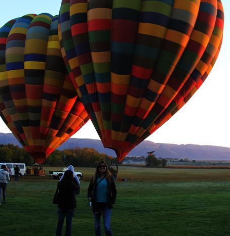 Pronta pra subir no balão