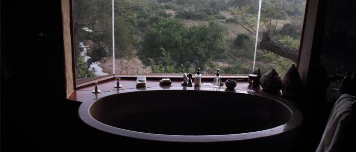 Vista do Kruger do Banheiro do quarto no Lukimbi