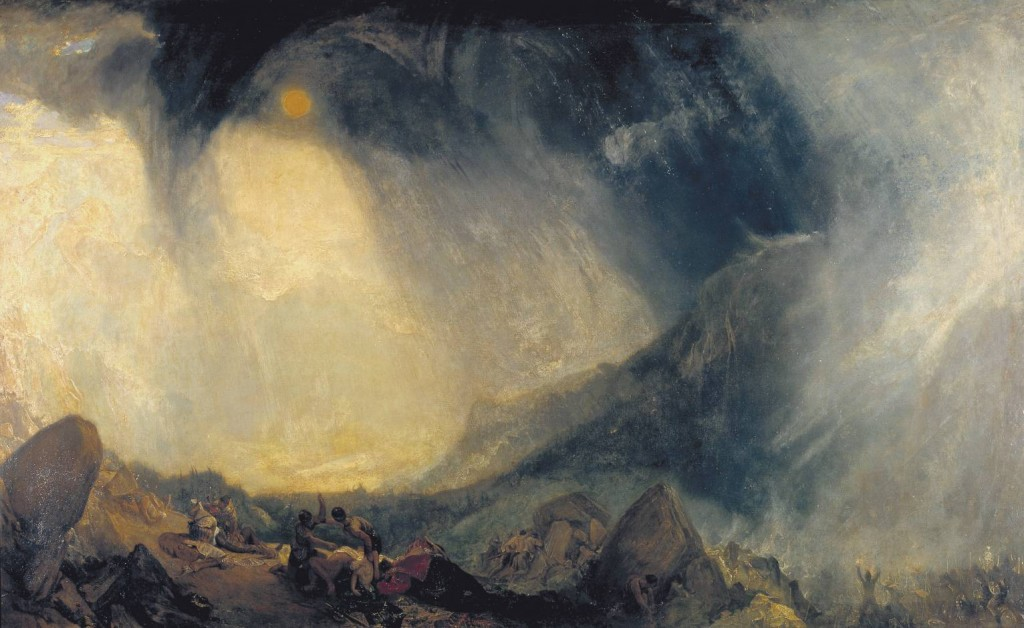 Snow Storm: Hannibal and his Army Crossing the Alps exhibited 1812 by Joseph Mallord William Turner 1775-1851