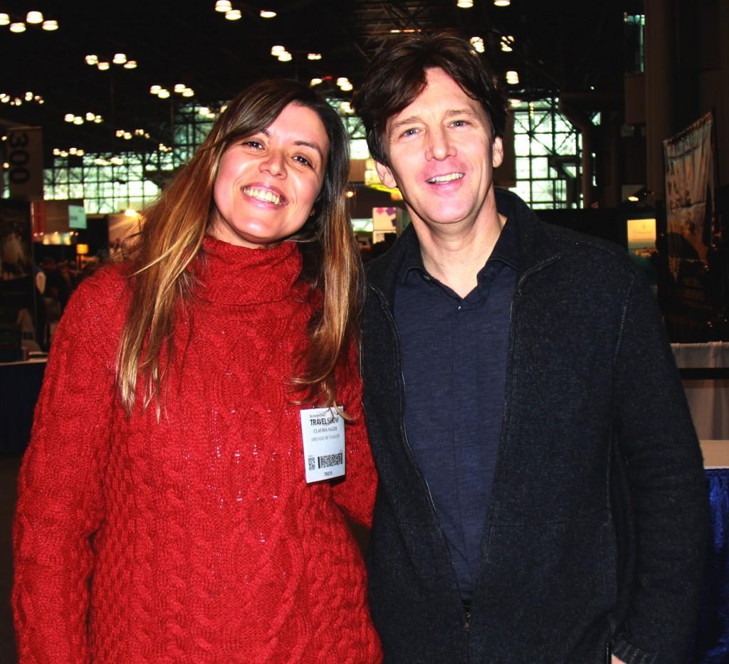 Com Andrew em Nova York