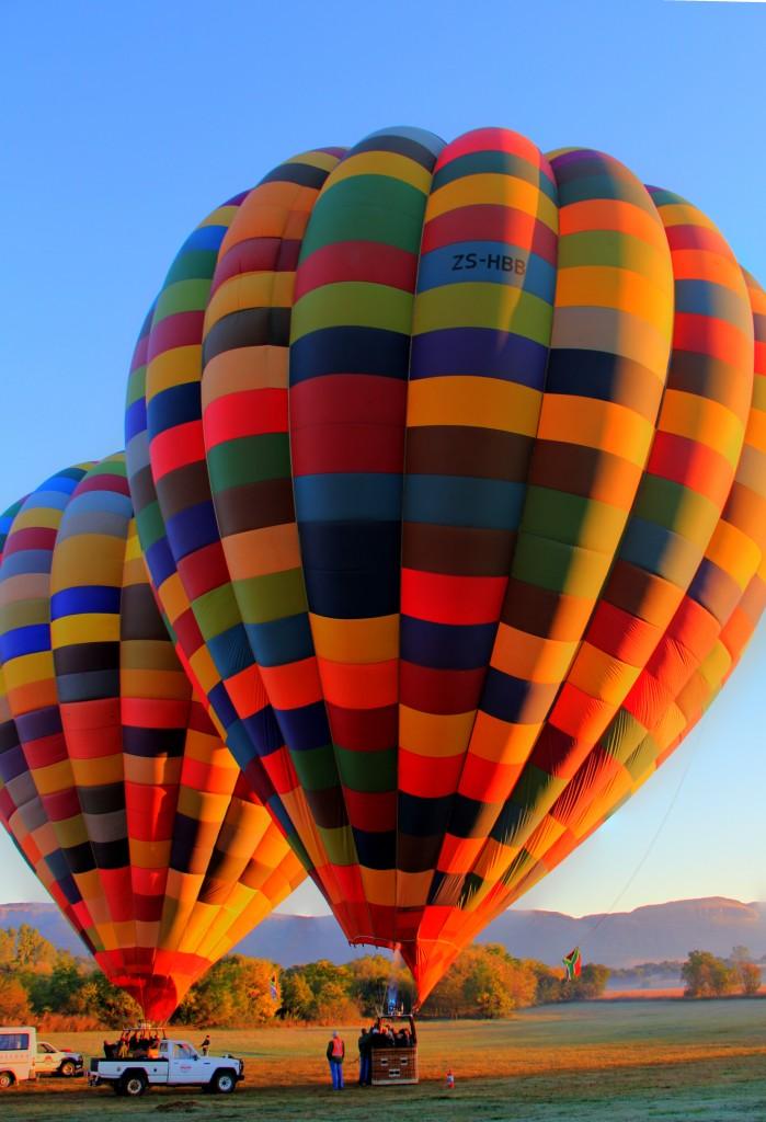 Balão pronto para subir