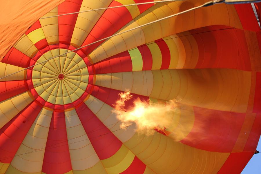 Dentro do balão