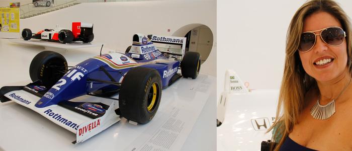 Os carros usados por Ayrton Senna no museu em Modena