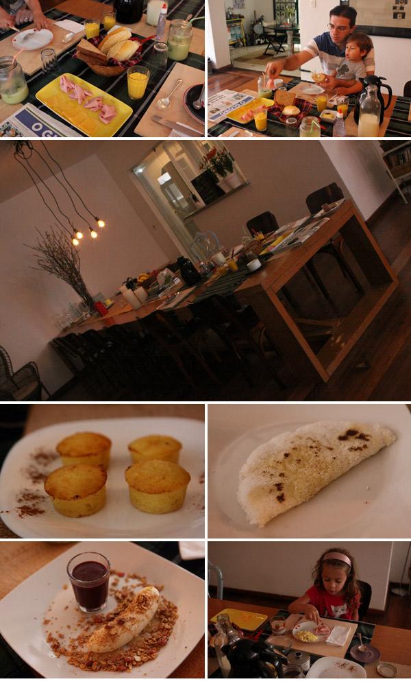 Nosso café-da-manhã delicioso na Casa Beludi