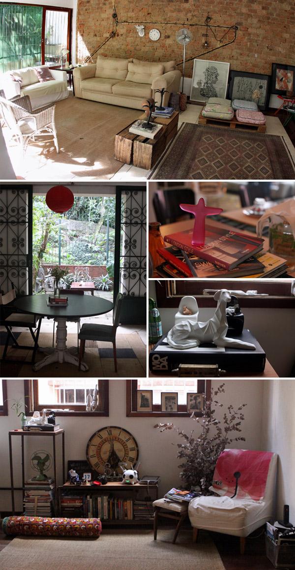 Algumas das salas e cantinhos da Casa Beludi
