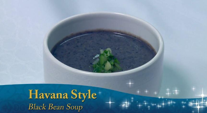 Sopa de Feijão preto de Cuba