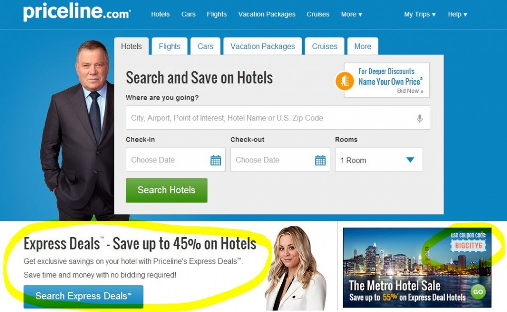 Priceline has introduced a new product called Priceline Express Deals. This new feature is different from the Name Your Own Price bidding scheme that disrupted the travel industry by .