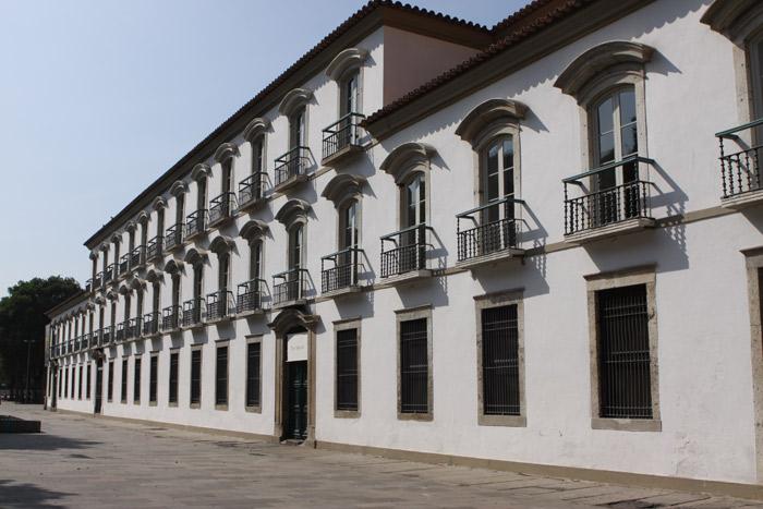 O Paço Imperial do Rio de Janeiro, onde a família imperial morou quando chegou ao Rio