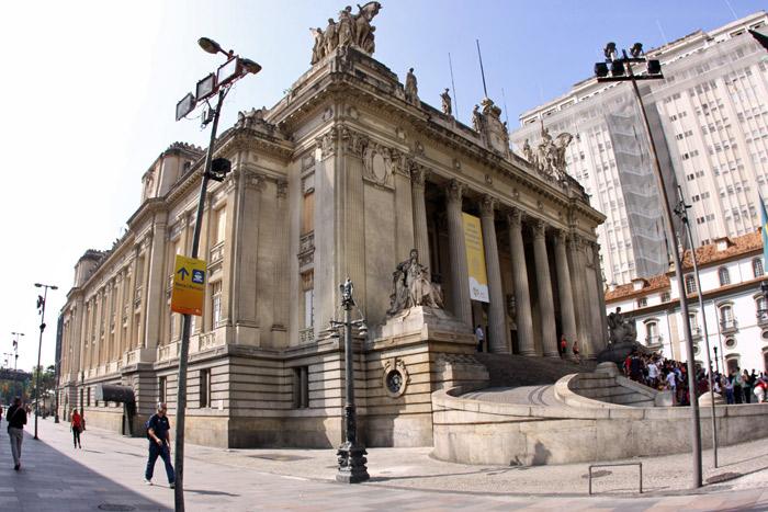O Palácio Tiradentes no Rio de Janeiro