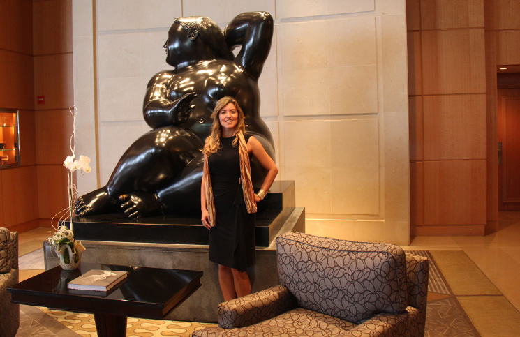 Eu e a lindona do Botero