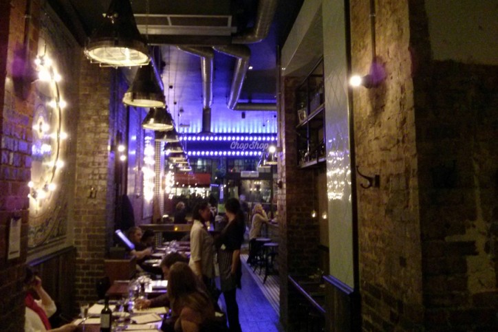 Restaurante chop shop Londres