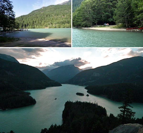 Diablo Lake, linda paisagem 3h de Seattle
