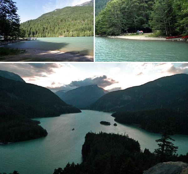 Diablo Lake, linda paisagem 3h de Seattle