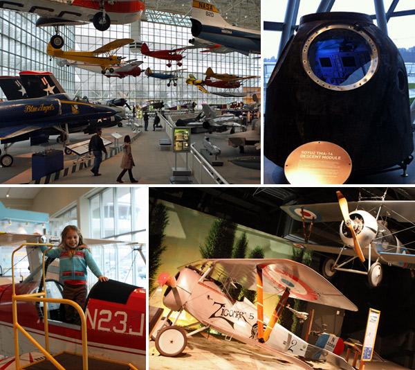 O Museum of Flight em Seattle é um dos melhores que eu já vi
