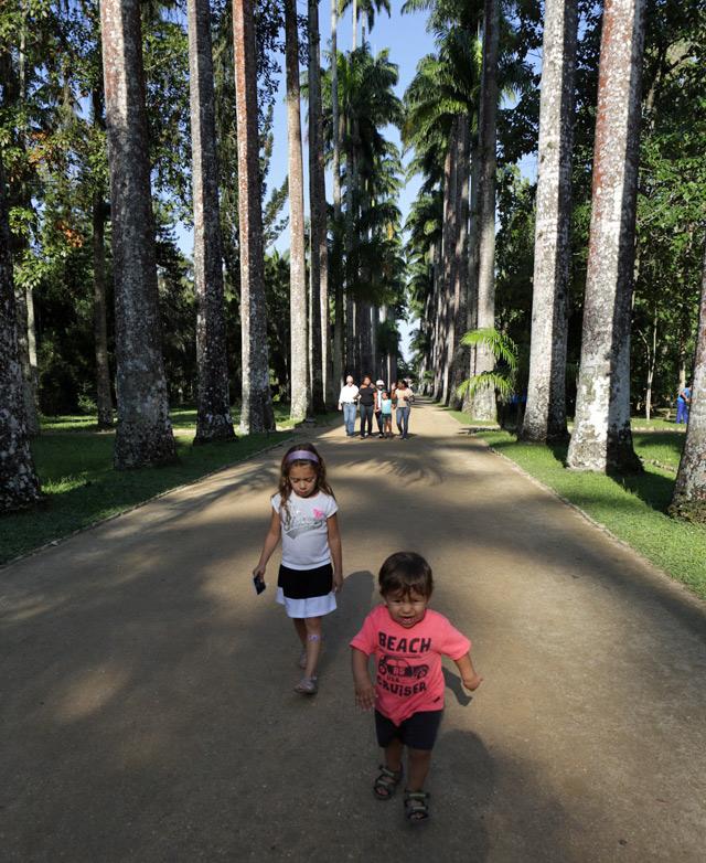 Julia e Eric no Jardim Botânico do Rio de Janeiro