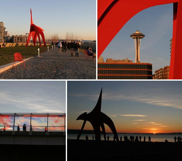 Olympic Sculpture Park, bom pra ver o pôr-do-sol