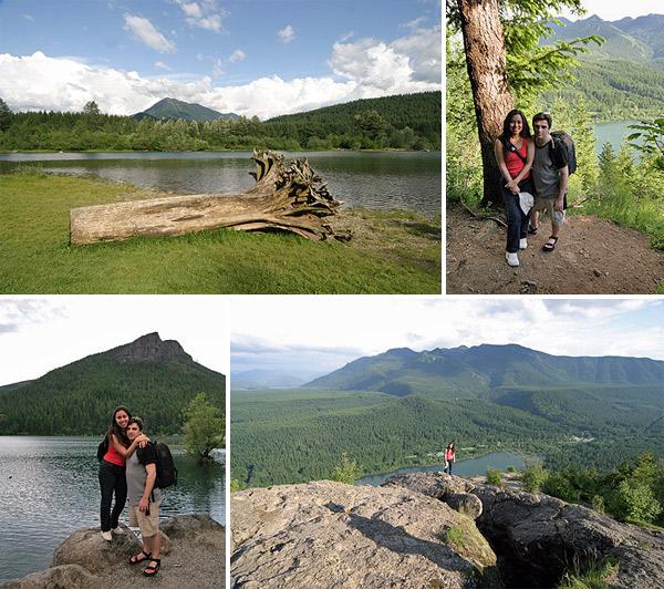 Rattlesnake Lake e a trilha que tem uma vista maravilhosa lá do alto