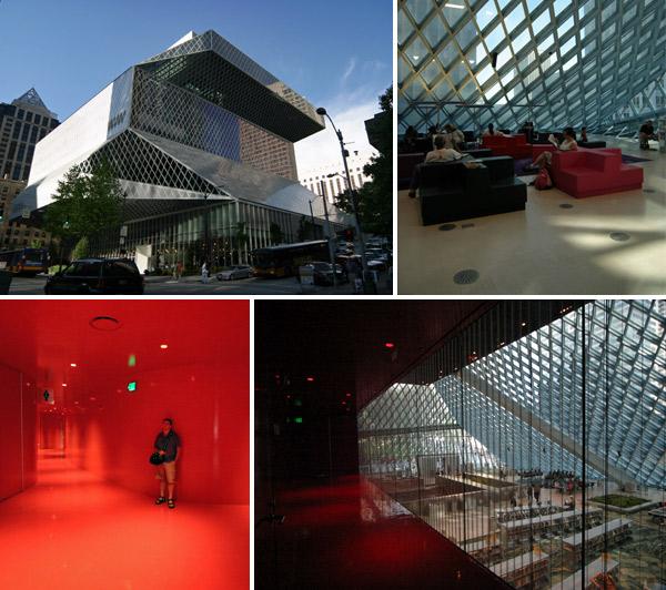 Seattle Public Library, arquitetura moderna muito legal