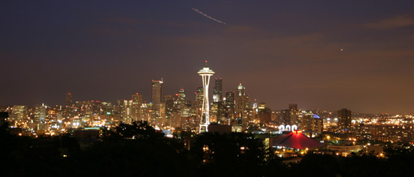 Skyline de Seattle visto do Kerry Park