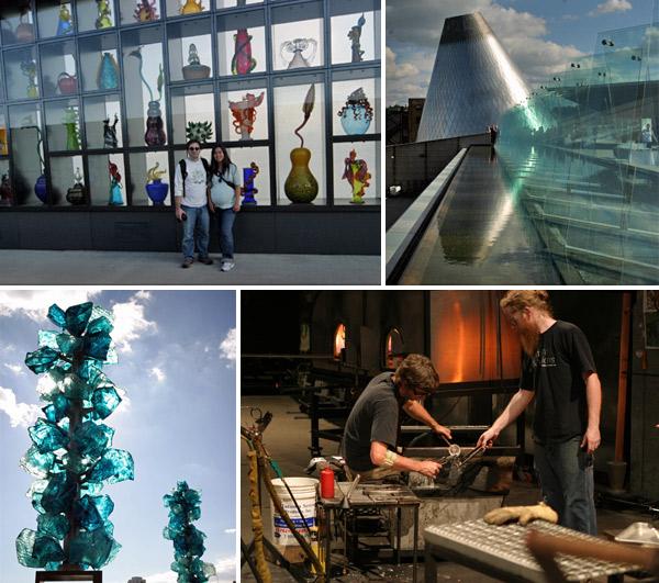 Tacoma Glass Museum, na cidade de Tacoma, sul de Seattle