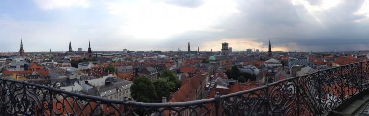 Copenhague vista da Rundetarn