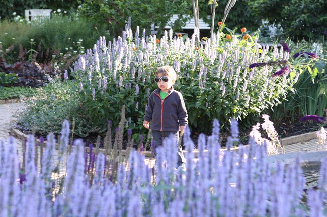 Eric passeando pelos jardins do Tivoli