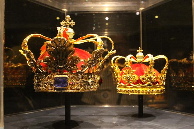 Algumas das coroas da família real dinamarquesa