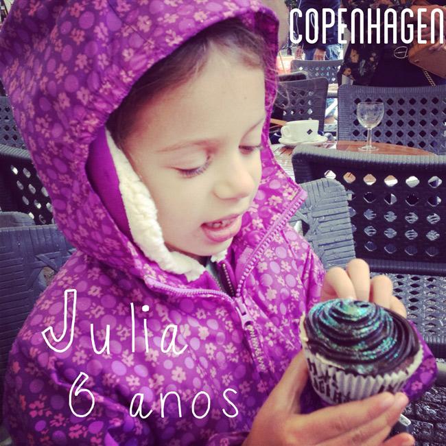 Comemorando os 6 anos da Julia em Copenhague