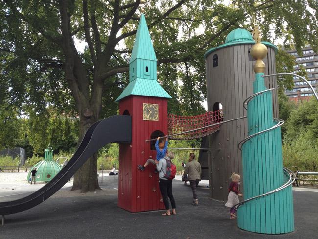 Playground das torres de Copenhague