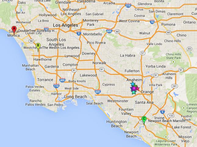 Mapa Anaheim