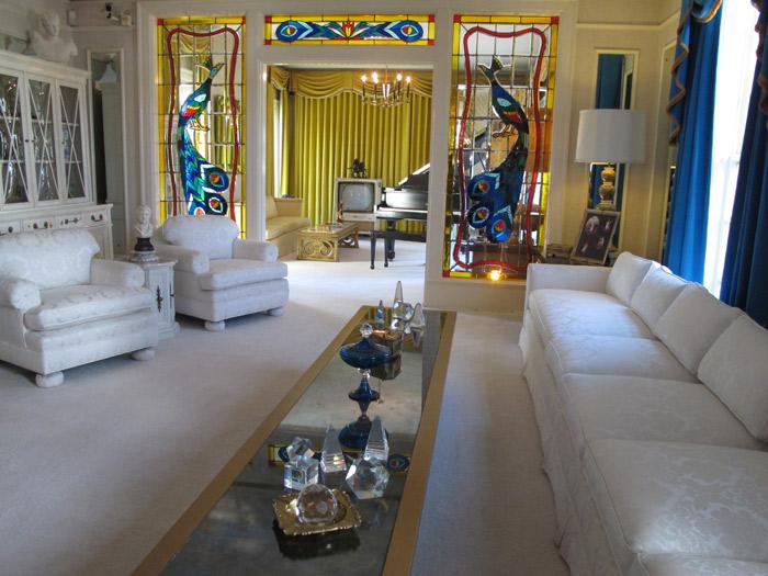 A sala de Elvis Presley em Graceland