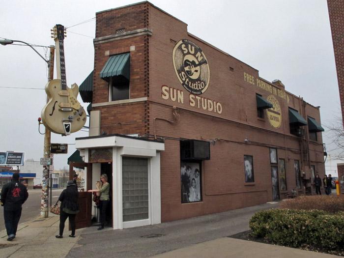 Sun Studio, onde nasceu o rock'n'roll
