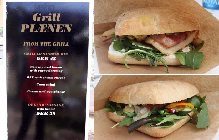 Nossos sanduíches do almoço, gostosinhos