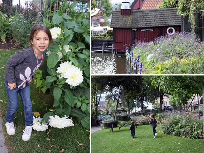 Passeando pelos jardins ao redor do Tivoli Lake