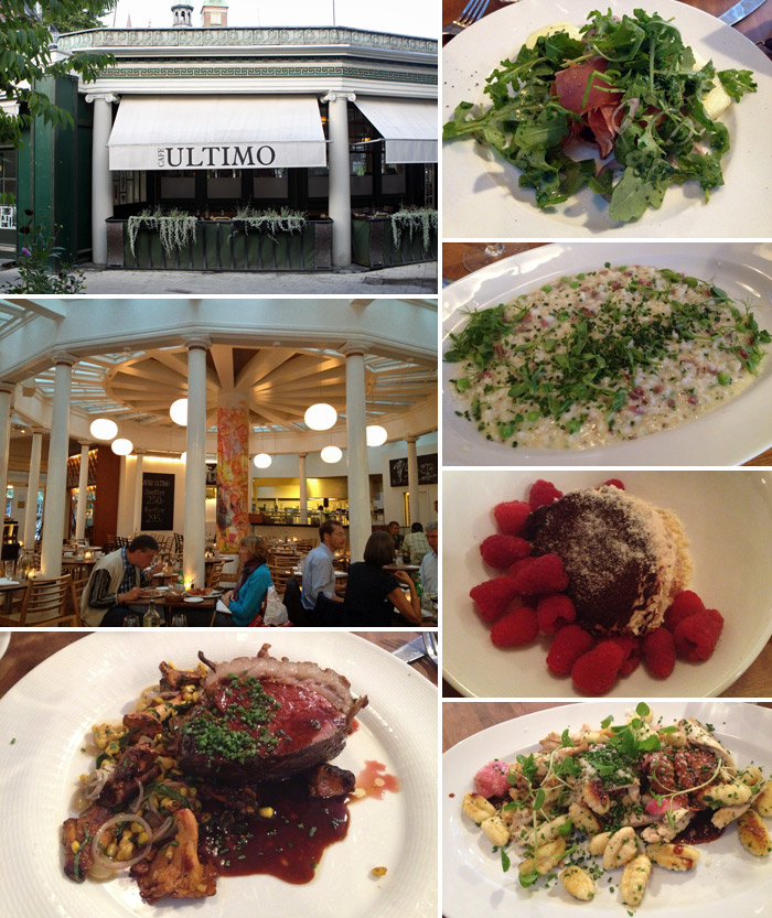 Jantar no Cafe Ultimo, estava muito bom!