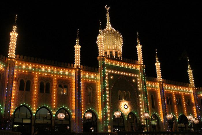 Palácio Mouro a noite, direto das 1001 noites