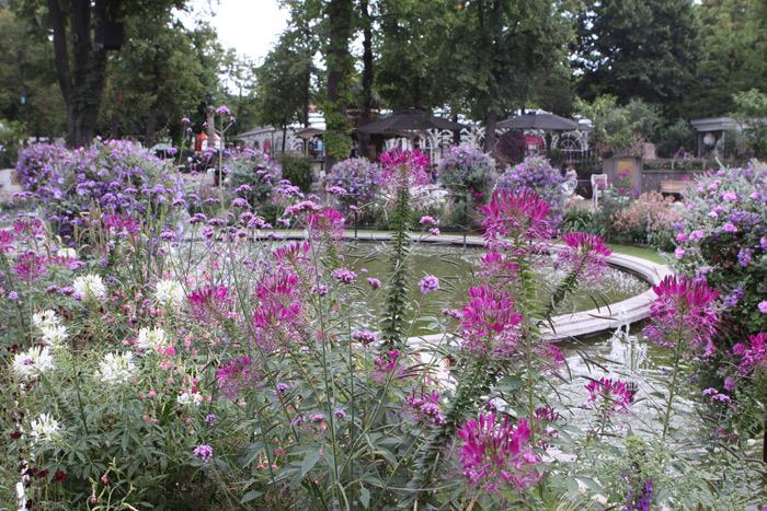 Flores por toda parte nos jardins do Tivoli