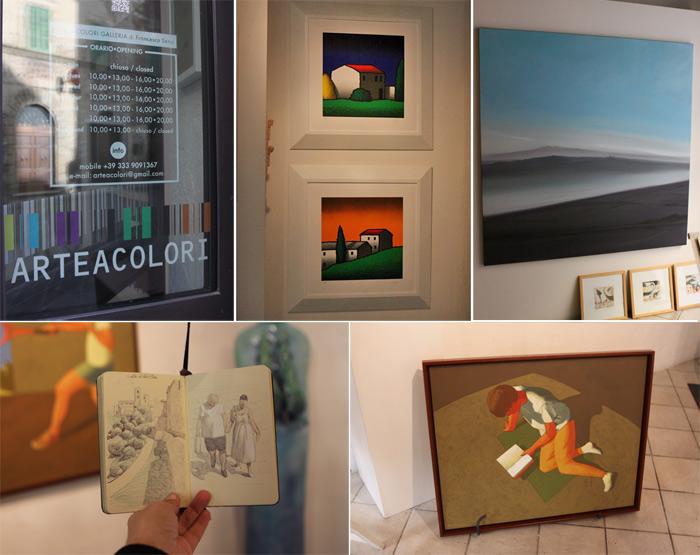 Galeria ArteaColori, com uma bela seleção