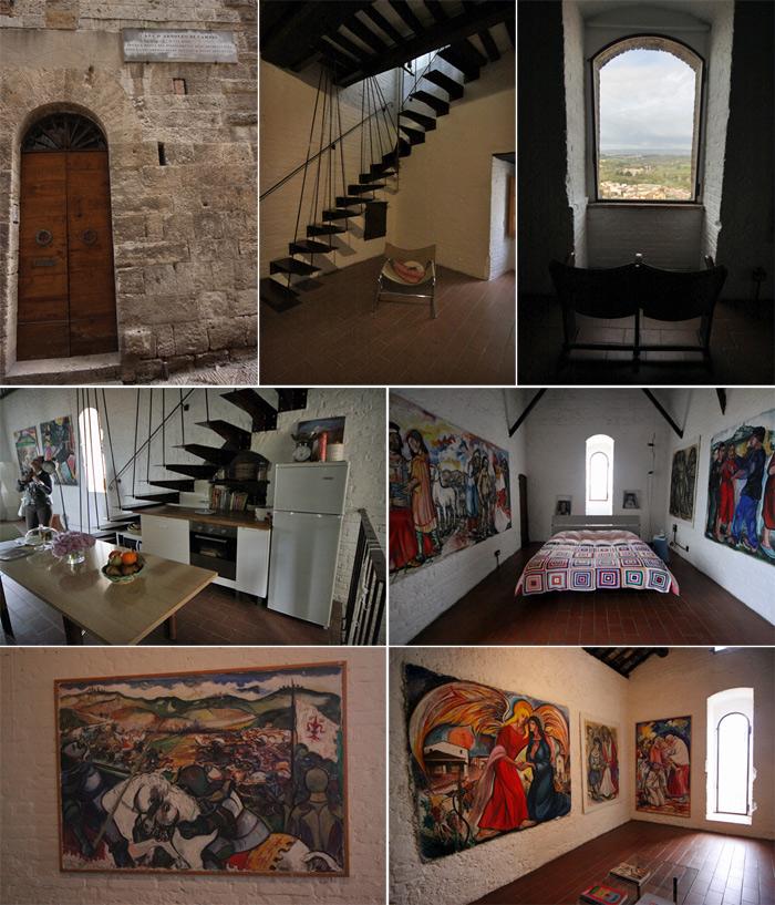Casa Torre Arnolfo di Cambio: belas pinturas, afrescos e a vista, claro