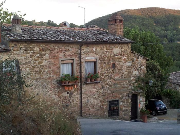 Uma casa tipicamente Toscana: aqui é o Le Fate, onde ficamos hospedados