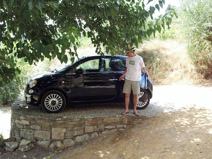 Chegando em Montefiarelle, na Toscana